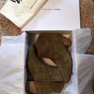 Isabel Marant dicker boots in velvet Brown 7.5/8